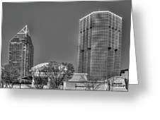 Tower Place Stripped Buckhead Atlanta Art Greeting Card
