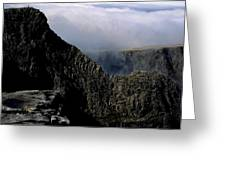 Tower Ridge From Ben Nevis Summit Fort William Lochaber Invernesshire Scotland Greeting Card