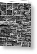 Tower Wall Black And White Greeting Card