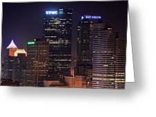 Towering Buildings Of Pittsburgh Greeting Card