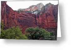 Towering Walls Zion Greeting Card
