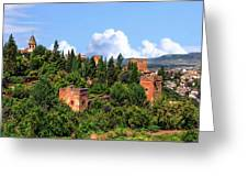Towers Of The Alhambra Greeting Card