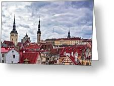 Towers Of The Tallinn Old Town Greeting Card
