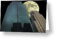 Towers To The Moon Greeting Card