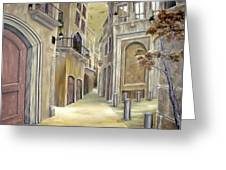 Town Alley Greeting Card