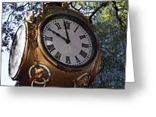 Town Clock Greeting Card