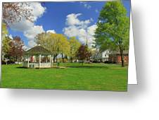 Town Common In Spring Brookfield Massachusetts Greeting Card