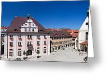 Town Hall And St. Martin Cathedral Greeting Card