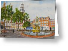 Town Hall Square Leicester Greeting Card