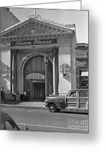 Town House And Woody Station Wagon, Alvarado Street - Monterey   Greeting Card
