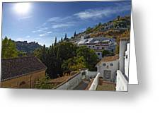 Town In A Valley, Sacromonte, Granada Greeting Card