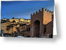 Town Of Assisi, Italy Greeting Card