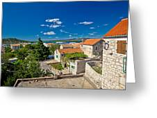 Town Of Betina Architecture And Coast Greeting Card