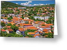 Town Of Drnis And Dalmatian Inland Panorama Greeting Card
