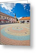 Town Of Ludbreg Square Vertical View Greeting Card