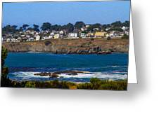 Town Of Mendocino Greeting Card