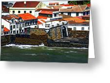 Town Of Porto Pim Greeting Card