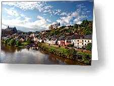 Town Of Saarburg Greeting Card