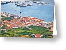 Town Of Seget Aerial View Greeting Card