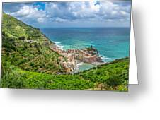 Town Of Vernazza, Cinque Terre, Italy Greeting Card