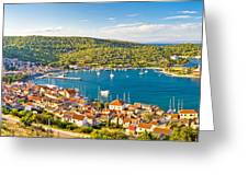 Town Of Vis Panorama From Hill Greeting Card