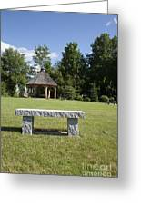 Town Park In Bartlett New Hampshire Usa Greeting Card