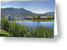 Town Square By The Pond At Waterville Valley Greeting Card