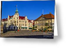 Town Square Kalmar Greeting Card