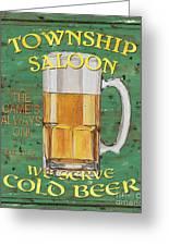 Township Saloon Greeting Card