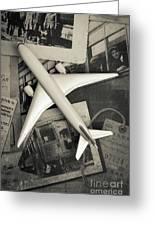 Toy Airplane Vintage Travel Greeting Card