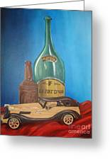 Toy Car And Bottles Greeting Card