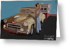 Toy Car Holiday Greeting Card
