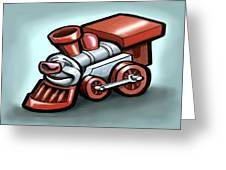 Toy Train Greeting Card