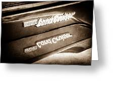 Toyota Land Cruiser Emblem  -0584s Greeting Card