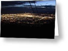 Tr07 Sandia Tram Greeting Card