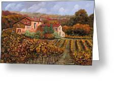 tra le vigne a Montalcino Greeting Card