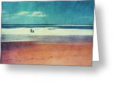 Traces In The Sand Greeting Card