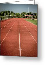 Track And Field Of Depth One Greeting Card