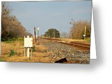 Track Crossing  Greeting Card