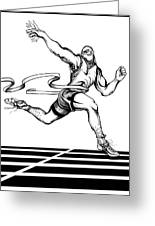 Track Sprinter Greeting Card