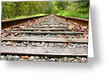 Tracking To The Right And Around The Bend Greeting Card