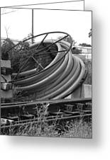Tracks And Cable Greeting Card