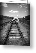 Tracks Greeting Card by Chance Manart