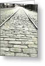 Tracks In The Road Greeting Card