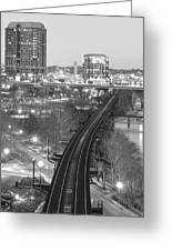 Tracks Into The City Greeting Card