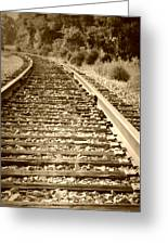 Tracks Greeting Card