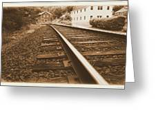 Tracks To Town Greeting Card