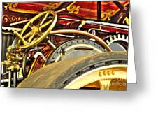 Traction Engine Steering Mechanism Greeting Card
