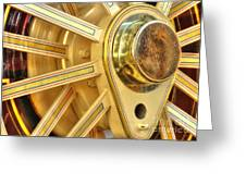 Traction Engine Wheel Greeting Card