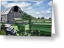 Tractor Barn Greeting Card